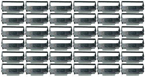 Ink Ribbon ERC 30, ERC 34, ERC 38, ERC 30/34/38 compatible impact and dot matrix printer ribbon cartridge for the ERC38, NK506 by Monroe Systems for Business (36-pack, black and red) - Ncr Ink Printer