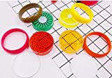 Luweki 6PC Crystal Fruit Clay Rubber Mud Intelligent Hand Gum Plasticine Slime Kid Toys