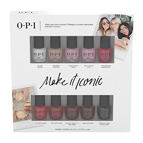 OPI 10pc Nail Lacquer Mini Pack, Make it Iconic Collection