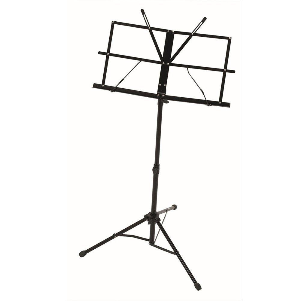 LEORX Adjustable Folding Music Stand + Carrying Bag (Black)