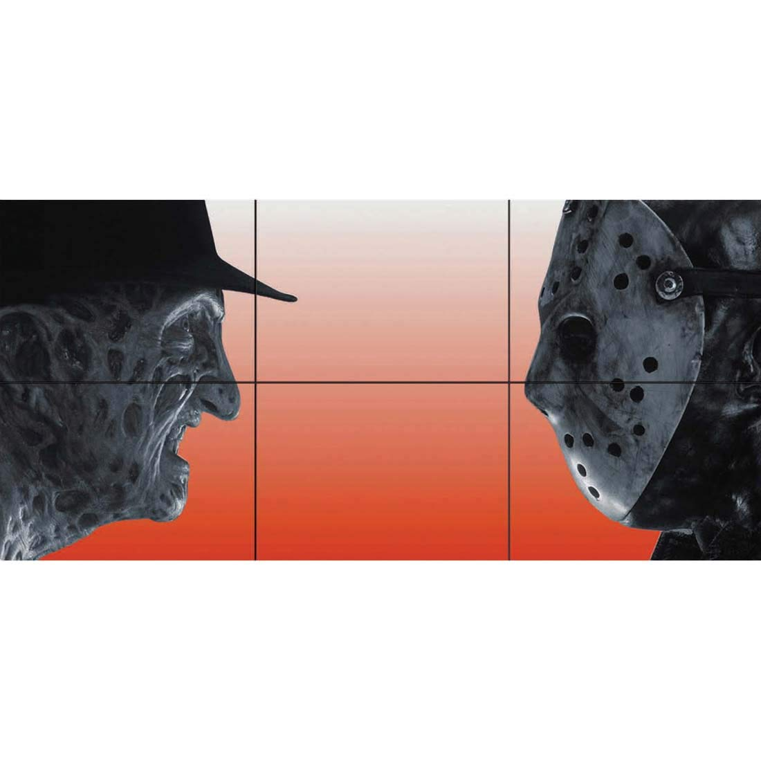 Doppelganger33LTD Freddy Krueger VS Jason Voorhees Horror Movie Film Characters Giant Picture Art Poster Print B313
