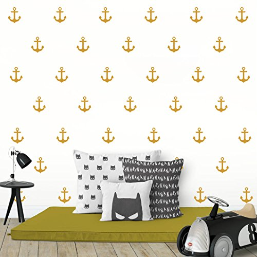Cheap  Nautical Anchor Wall Decal,Removable Vinyl Wall Stickers for Baby Kids Boy Girl..