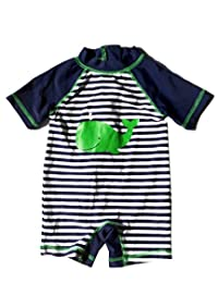 Fashion Baby Infant Baby Boys Sunsuit One Piece Ruash Guard Swimwear Swimsuit