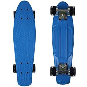 """RIMABLE Complete 22"""" Skateboard BLUECLEARBLACK"""