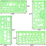 12 Pieces Plastic Drawings Templates Technical