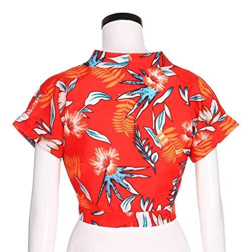 Col Taille T Et Pour Courtes Long Rouge Long Manches Zhrui Femmes shirt En V À À La Plus wtdfqZ