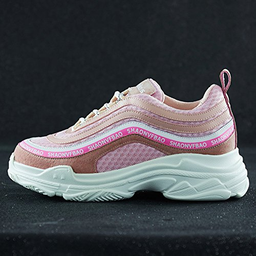 pink GUNAINDMXSports Bottom Shoes Spring New Match Shoes Thick All qfqxH4