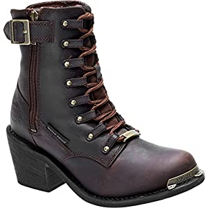 Harley-Davidson Women's Erica 6-Inch WP Motorcycle Boots D87126 (Brown, 8)