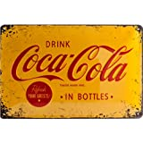 Nostalgic-Art 22228 Coca-Cola, Logo Yellow, Blechschild, 20 x 30 cm