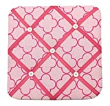 quilted picture board - Bacati Butterflies Girls Fabric Memory/Memo Photo Bulletin Board, Pink/Chocolate