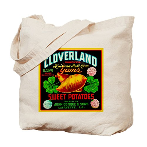 CafePress - Cloverland Brand - Natural Canvas Tote Bag, Cloth Shopping - Lafayette La Shopping