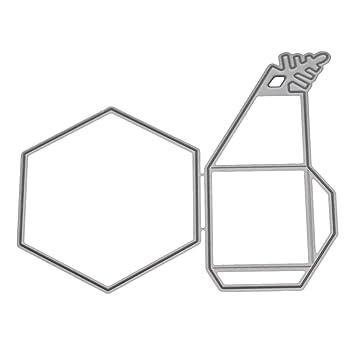 Sunlera 3D Caja de Regalo del Copo de Nieve Troqueles de Corte de Acero al Carbono de la Plantilla de Herramientas de Bricolaje de Tarjetas artesanales de ...