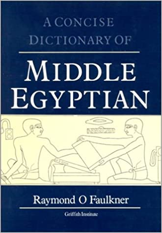 concise-dictionary-of-middle-egyptian-egyptology-griffith-institute-griffith-institute-publications