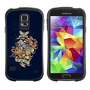 Paccase / Suave TPU GEL Caso Carcasa de Protección Funda para - You Win Or You Die Animal Dragon Crest - Samsung Galaxy S5 SM-G900