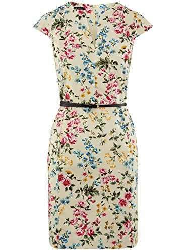 Fourreau Robe Multicolore avec Femme Ceinture Collection 5045f oodji aqCwtHC