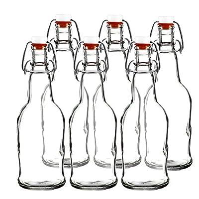 Easy Cap Beer Bottles - Kombucha Bottles - 16 oz. - Clear 6 pack - EZ Cap -- Original Cherry Blossom Hardware Bottles