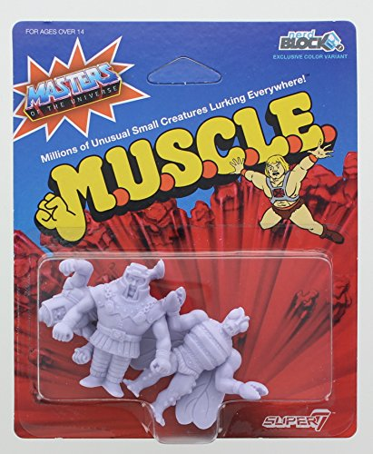 Masters of the Universe M.U.S.C.L.E. Mini Figure 3-Pack: Ram Man, Man-E-Faces, Buzz (Ram Man Figure)