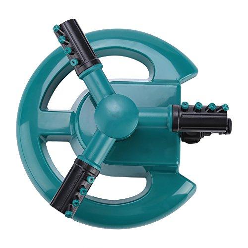 Aspersor giratorio de agua de 360 ° 3 boquillas Accesorio de riego de jardín 3 boquillas de brazo Sistema de...