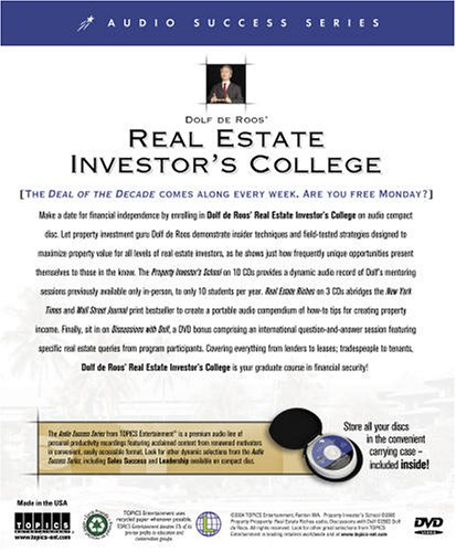 Dolf de Roos' Real Estate Investor's College: Real Estate Investing for Everyone by Brand: Topics Entertainment