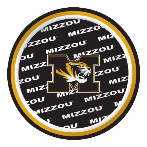 Missouri Tigers Dessert Paper Plates, -