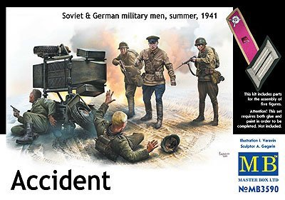Master box 1/35 Soviet accidental German soldier 2-3 Soviet soldiers encountered accidents