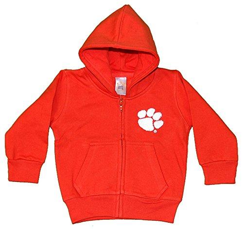 mson Tigers Full Zip Hooded Jacket, 18M, Orange (Clemson Youth Fleece Pullover)