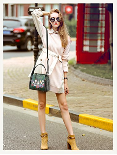 Squares Crossbody Handbags Green Small Ladies' Bag Bag Retro Fashion Shoulder Women's Tisdaini xRFg81nwqx