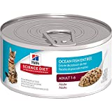 Hill's Science Diet Adult Ocean Fish Entree Minced Cat Food, 5.5-Ounce Can, 24-Pack