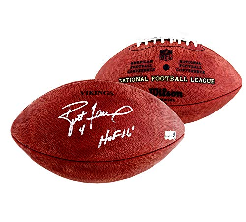Brett Favre Autographed/Signed Minnesota Vikings Wilson Authentic Stamped NFL Football With