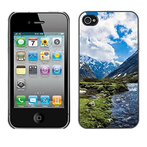 SuperStar // Refroidir image Étui rigide PC Housse de protection Hard Case Protective Cover for iPhone 4 / 4S / Neige Paysage de montagne /