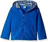 Gerber Little Boys' Toddler Hooded Micro Fleece Jacket, Blue, 3T