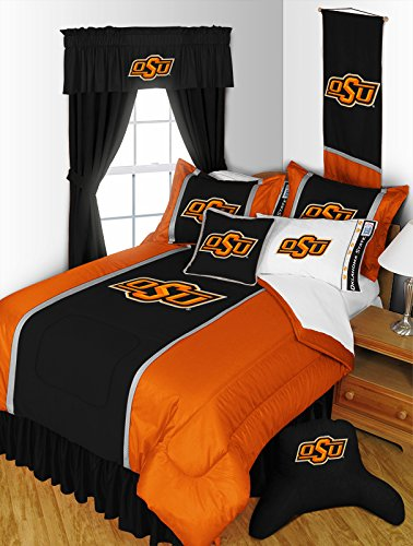 Oklahoma State Cowboys 5 PIECE TWIN BEDDING SET, BED IN A BAG (COMFORTER, FLAT SHEET, FITTED SHEET, 1 - PILLOW CASE, 1 - PILLOW SHAM by Dream Time Kids Bedding