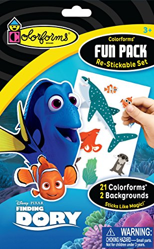 Colorforms Re-Stickable Sticker Set Finding Dory