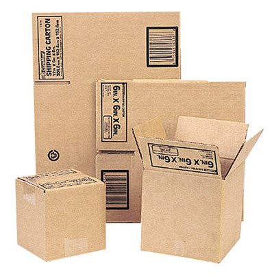 Corrugated Shipping/Storage Boxes, 200 Lb Cap, Kraft, 11-3/4