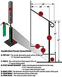 "Iron X Handrail Door #2-20"" Wall & Floor Mounted"