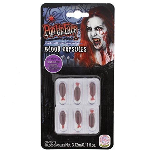 Zac's Alter Ego 6 Blood Capsules - Perfect For Halloween (Halloween Blood Capsules)