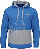 NFL Detroit Lions Mens Sport Blue Coin Toss Pullover Fleece Hoodie