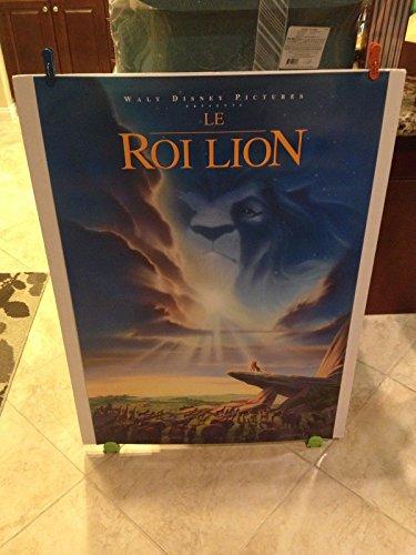 Walt Disney ULTRA RARE FRENCH LION KING Movie Theatre Poster 27x40 One Sheet LE ROI LION