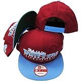 Philadelphia Phillies Maroon/Powder Blue Cooperstown Two Tone Plastic Snapback Adjustable Plastic Snap Back Hat / Cap