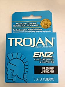 Trojan Enz Lubricated Size 3s Trojan Enz Lubricated Latex Condoms 3ct