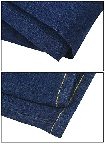 Jeans Skinny Dark AIEOE Super Stretch Waist Jeans Women's High Trousers Women's Blue Lifting Butt 77SCqxgnv