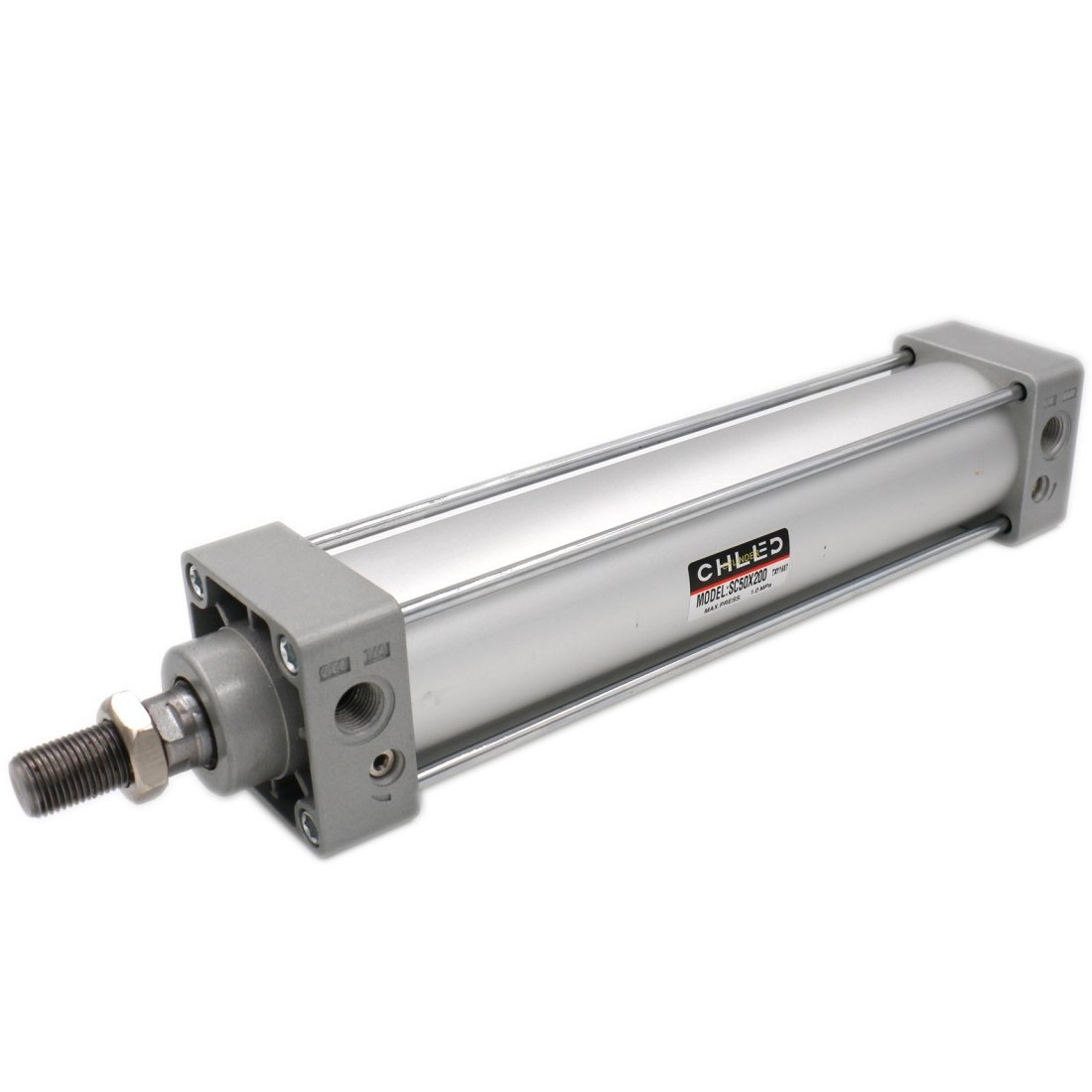 Baomain Pneumatic Air Cylinder SC 50 x 250 PT 1/4, Bore: 50mm, Stroke: 250mm, Screwed Piston Rod Dual Action 1 Mpa