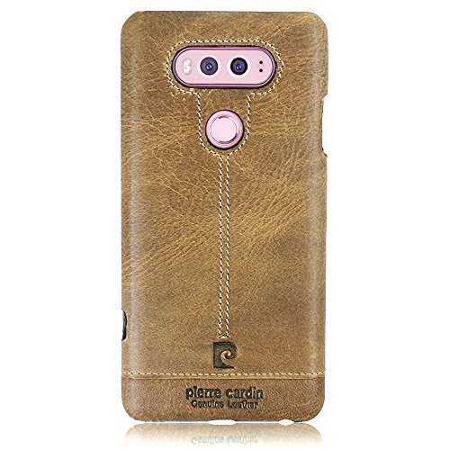 pierre-cardin-genuine-leather-case-protective-slim-fit-snap-on-hard-back-cover-for-lg-v20-brown