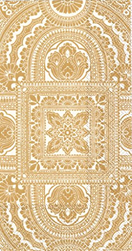 Ideal Home Range 3-Ply Paper Classique, 16 Count Guest Towel Napkins, Gold, Set of 2
