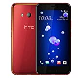 HTC U11 128GB Dual SIM MODEL - Factory Unlocked Phone - International Version - GSM ONLY, NO WARRANTY in the US (Solar Red)