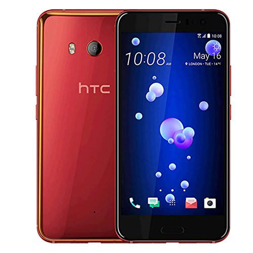 HTC U11 128GB Dual SIM MODEL - Factory Unlocked Phone - International Version - GSM ONLY, NO WARRANTY in the US (Solar Red) by HTC