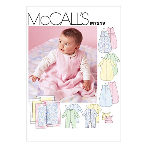 (McCall's Patterns M7219 Infants' Buntings, Jumpsuits, Hats and Blanket Sewing Template, in One)