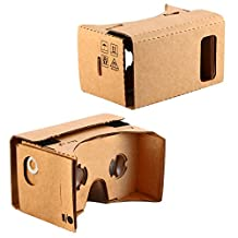 KR-NET Bigger Google Cardboard - VR 3D Virtual Reality Glasses DIY Kit for Large Smart Phone Galaxy S6 S7 edge Active Note 4 5 iPhone 6 6S Plus LG Nexus 5X G4 G5 V10 HTC 10 One M8 M9 Sony Xperia Z5