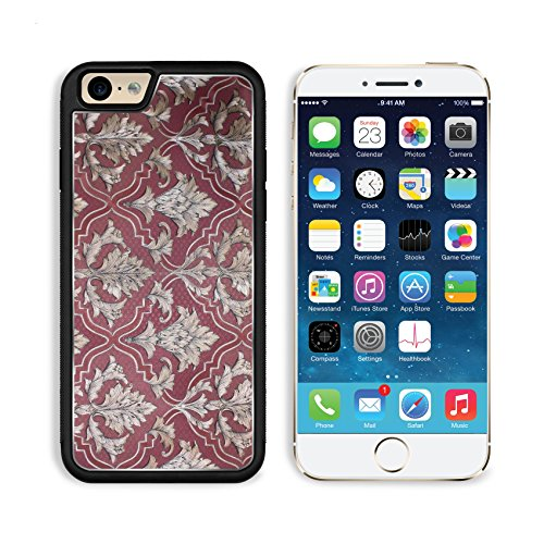 Apple iPhone 6 6S Aluminum Case Damask seamless floral pattern Royal wallpaper (Damask Traditional Prints Wallpaper)
