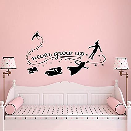 sold by a good decals usa never grow up wall decal quote peter pan wall